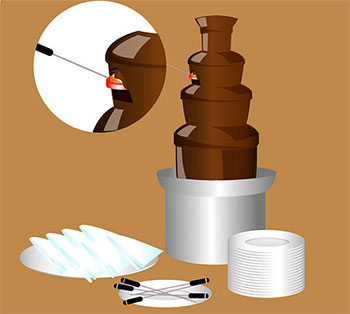 Как правильно использовать шоколадный фонтан