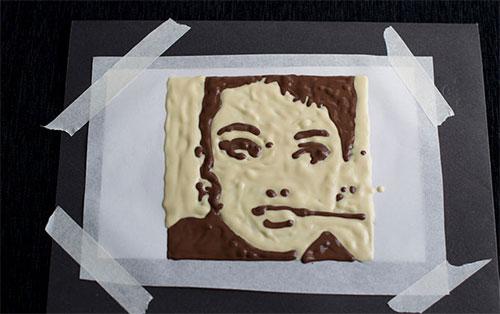 portret iz shokolada svoimi rukami