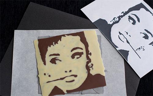 portret iz shokolada