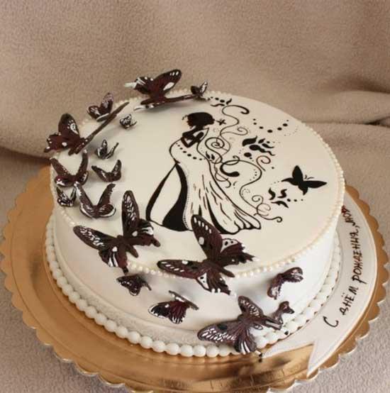 Как сделать бабочки из шоколада на торт своими 74