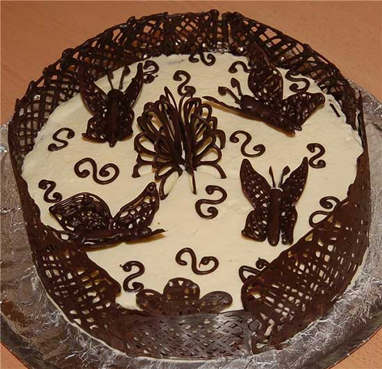 Как сделать бабочки из шоколада на торт своими 19