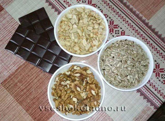 Шоколадные конфеты с орехами своими руками