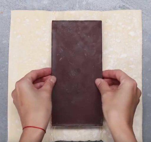 Слойка с шоколадом